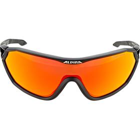 Alpina S-Way CM+ Glasses black matt/red mirror